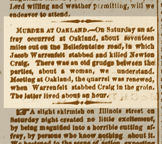 Murder At Oakland 1867