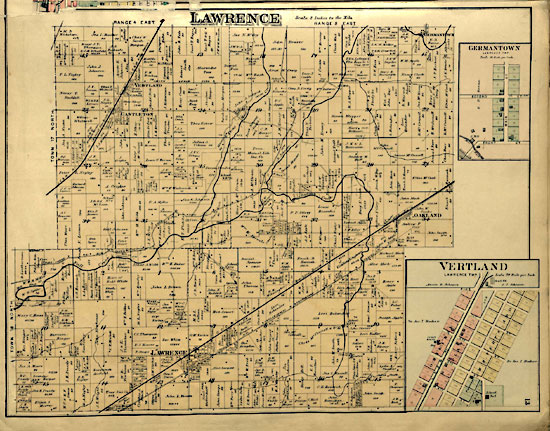 Map of Lawrence Township - 1889