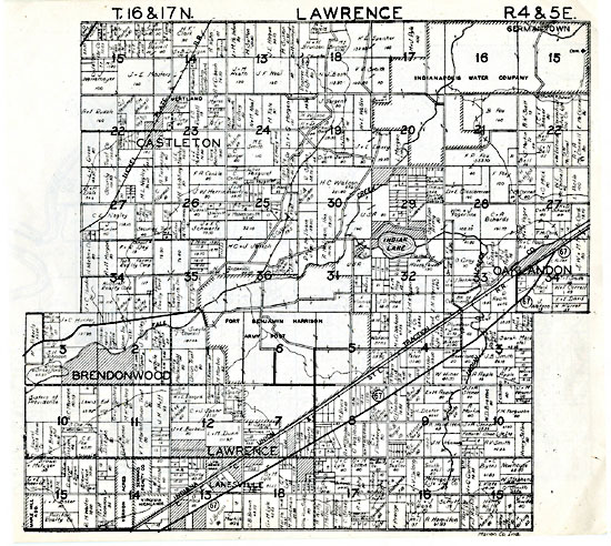 Lawrence Twp Plat Map (showing land owners)