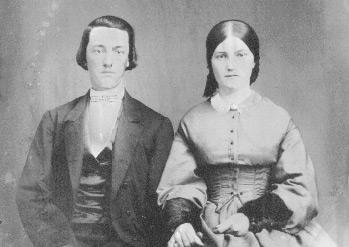 Wedding picture of Michael Mock II (1841-1921) and Sarah Jane Cory (1844-1928).