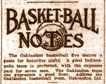 Basket-ball Notes