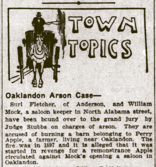Oaklandon Arson Case