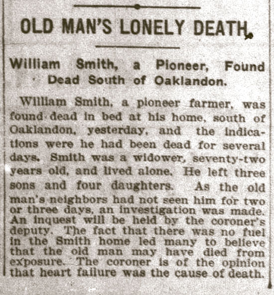 Old Man's Lonely Death