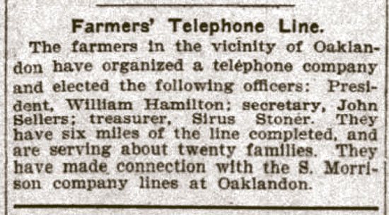 Farmers Telephone Line